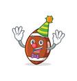 clown american football character cartoon vector image vector image