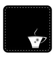 coffee cup on black background vector image