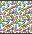 colorful mexican sugar skull seamless pattern vector image vector image