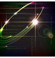 Design technology trendy background with the vector image vector image