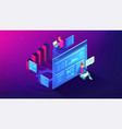 digital strategy and planing isometric vector image vector image