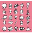 Doodle Cartoon Icon Design vector image vector image