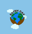 earth day with brown earth day typography at the vector image