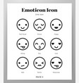 emoticon icons line pack vector image vector image