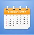 european calendar for february 2017 vector image