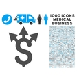 Expences Icon with 1000 Medical Business Symbols vector image