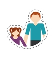 family father and daughter fun relation vector image