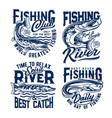 fishing club fishes t shirt prints fisher club vector image vector image