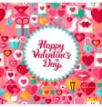 flat valentine day postcard vector image vector image