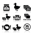 Foie gras duck or goose icons set vector image