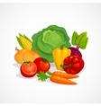 Fresh healthy vegetables composition Cartoon