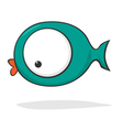 funny cartoon fish vector image