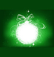 green xmas background with glowing abstract bauble vector image