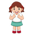 happy girl cartoon vector image
