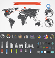 Infographic elements collection vector image vector image