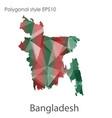 isolated icon bangladesh map polygonal vector image vector image