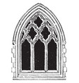 large gothic window tracery technical aspects of vector image vector image