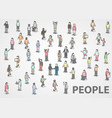 large group of isometric people vector image