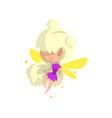 little winged blonde elf girl cute fairytale vector image vector image