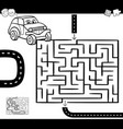 maze or labyrinth for coloring vector image vector image
