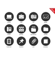 Office icons on white background vector image vector image