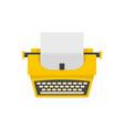 old fashion typewriter icon flat style vector image vector image
