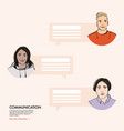 online support chat video class stay school learn vector image