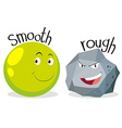 Opposite adjectives smooth and rough vector image vector image