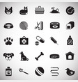pet icons set on white background for graphic and vector image
