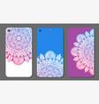 phone case mandala design set vintage decorative vector image vector image