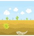 Pixel art desert vector image vector image