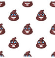 poop shit turd character seamless pattern vector image