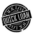 quick loan rubber stamp vector image vector image