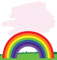 rainbow line in nature vector image