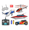rc transport remote control models toys design vector image