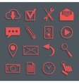 red icons for web and mobile applications vector image