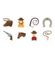 rodeo competition icons in set collection for vector image