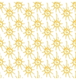 Seamless pattern with decorative stylized sun vector image