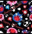 seamless vivid funny halloween pattern made of vector image vector image