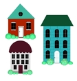set cool detailed houses vector image vector image
