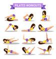 set pilates workouts design vector image