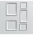 set white photo frames vector image vector image