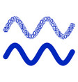 sinusoid wave mosaic of binary digits vector image vector image