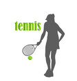 Tennis woman isolated