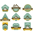 Tourism badges vector image vector image