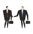 Transaction business Managers shaking hands vector image vector image