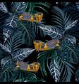 tropical jungle yellow snake vector image vector image