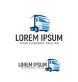 trucking transportation logo design concept vector image vector image