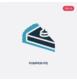 two color pumpkin pie icon from united states of vector image vector image