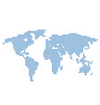 world map with blue circles vector image vector image